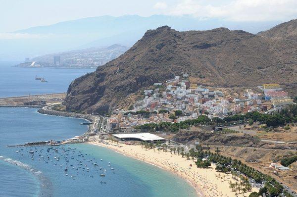 Tenerife, Playa de Las Teresitas and San Andres
