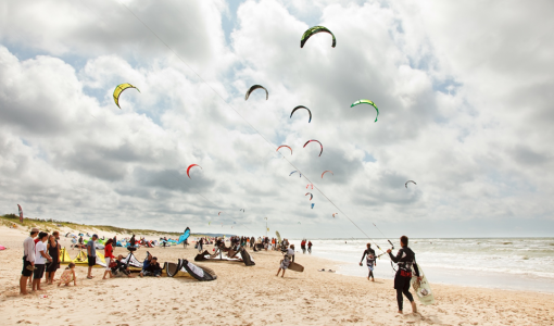 Kite party in Riga beach