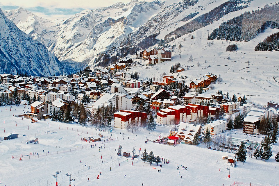 french ski resort